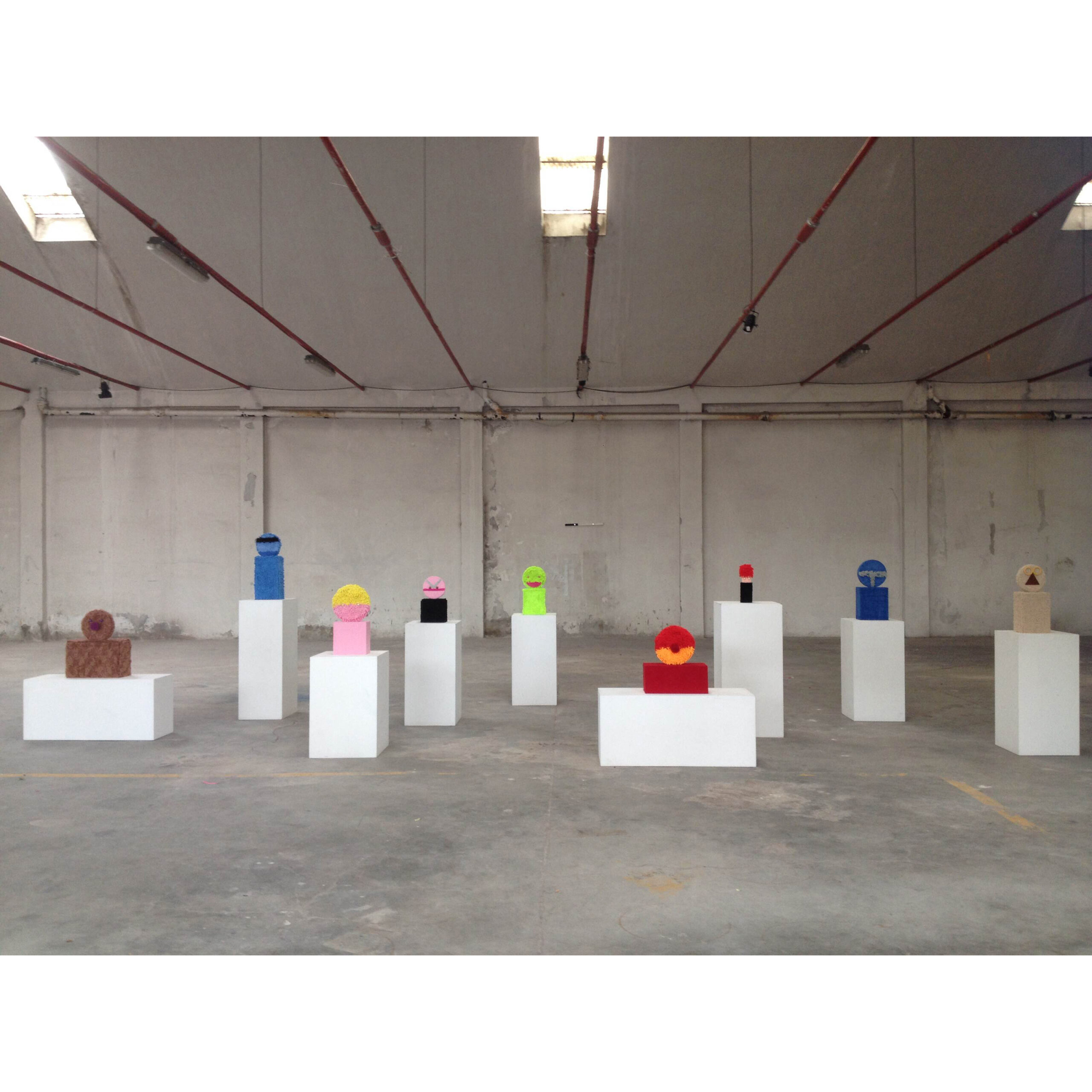 Nicola Gobbetto - MAN OR MUPPET?, 2015, installation view